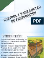Control y Parrámetro de Perforación