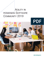 Study of Agility in the Romanian Software Community 2019