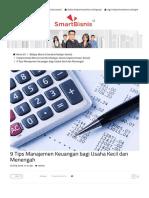 Smartbisnis - 9 Tips Manajemen Keuangan Bagi Usaha Kecil Dan Menengah