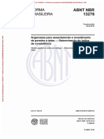NBR 13276 - 2016 - Argamassa Para Assentamento e Revestimento de Paredes e Tetos - Preparo