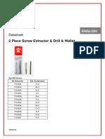 Screw Extractor Sizes
