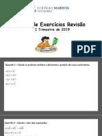 I Lista de Exercícios II Trimestre 201.pptx