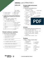 Grammar Vocabulary 1star Unit2 (1)