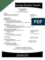 Civil Engineering Resume 2017