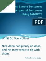 compound sentences fanboys powerpoint.ppt