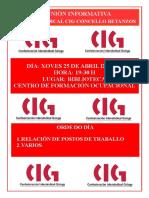 Cartel Asemblea 25 de Abril de 2019