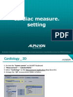 Cardiac Measurement settings  Alpinion