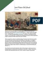 Just War vs Just Plain Jihad
