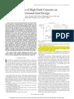 Ground Grid Design Based on Fault Currents