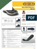 Ficha Tecnica - Botin Dieléctrico NP-310