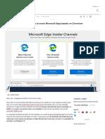 Microsoft Edge Chromium_ Ya Puedes Descargarlo Para Windows 10 en Su Versión Dev