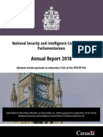 2018 Annual Report - National Security and Intelligence Committee of Parliamentarians