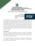 Edital Bolsa Monitoria e Voluntária - 1º Semestre 2019