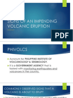 Signs of an Impending Volcanic Eruption