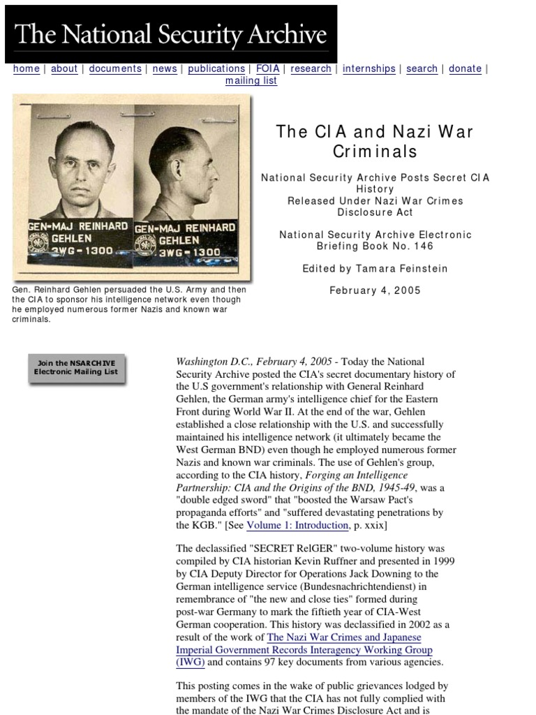 History from the CIA archive