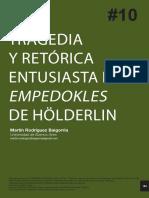 Tragedia y retorica entusiasta en el Empedocles de Hölderlin - Martin Rodriguez.pdf