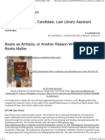Books as Artifacts, Or Another Reason Why Printed Books Matter _ Marissa K. Mason