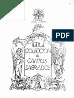 Libro Colección de Cantos Sagrados