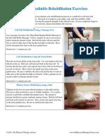 Achilles Tendinitis Rehabilitation Exercises
