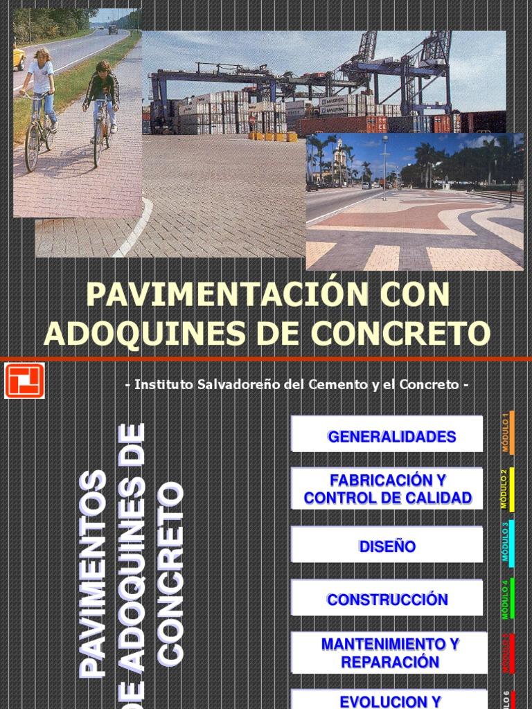Curso Adoquines Iscyc Hormigón Cemento