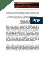 Frohmann e a Questão Do Regime de Informação, 2016