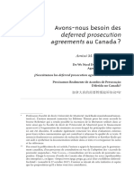 Avons-nous besoin des deferred prosecution agreements au Canada ?