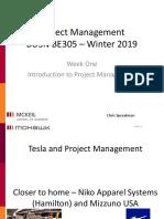 Project Management Class Notes Basics Week 1