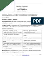 12 Microeconomics Keynotes Ch 08 Balance of Payment
