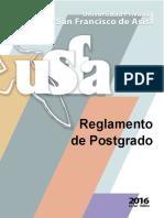 USFA Reglamento de Postgrado