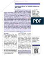 Efficacy of Milk as a Desensitizing Agent for the Treatment of Sensitivity Following Scaling and Root Planing