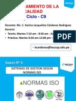 Sesión 6-Sistema de Gestion Segun NORMAS ISO