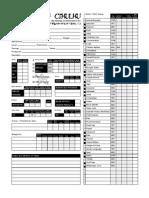 Character Sheet, All Skills