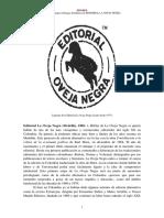 Editorial La Oveja Negra Medellin 1968 Semblanza 877855