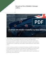 Qualidade Da Educação Na Nova Zelândia é Destaque Na Imprensa Brasileira
