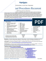 International Procedures Recurrent (Traditional Classroom)