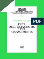 Storia della musica vol. 4. Claudio Gallic - L'eta dell'Umanesimo e del Rinascimento [N.pdf