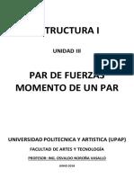Estructura I-unidad III-par de Fuerzas. Momento de Un Par