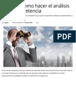 Qué es y cómo hacer el análisis de la competencia  CreceNegocios
