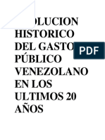 EVOLUCION HISTORICO DEL GASTO PÚBLICO VENEZOLANO EN LOS ULTIMOS 20 AÑOS.docx