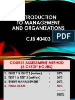 Chapter 1 2019, Introduction to Management and Organizations