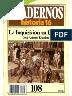 Cuadernos De Historia 16 108 La Inquisicion En España 1985.pdf