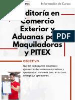 Curso Auditoría en Comercio Exterior y Aduanas para Maquiladoras y PITEX