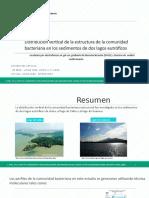 analisis en sedimentos de lagos