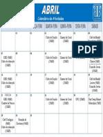 Calendário Abril
