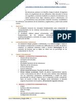 Temas, Trabajos y Evaluaciones Del Curso de Estructuras y Cargas