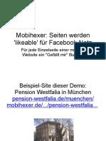 Webseiten 'likeable' machen und bei Facebook vernetzen - Details