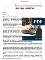 Aprender en La Era Digital