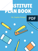 subsitute plan book