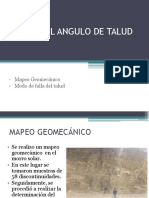 Diseño Del Angulo de Talud