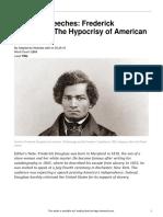 famous speeches- frederick douglass  22the hypocrisy of american slavery 22  790l
